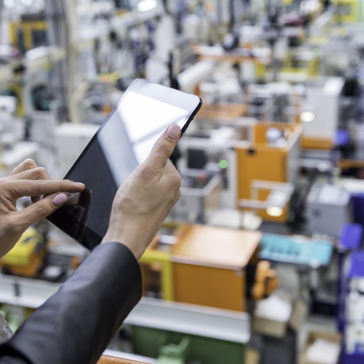 Hand bedient Tablet in Fabrik
