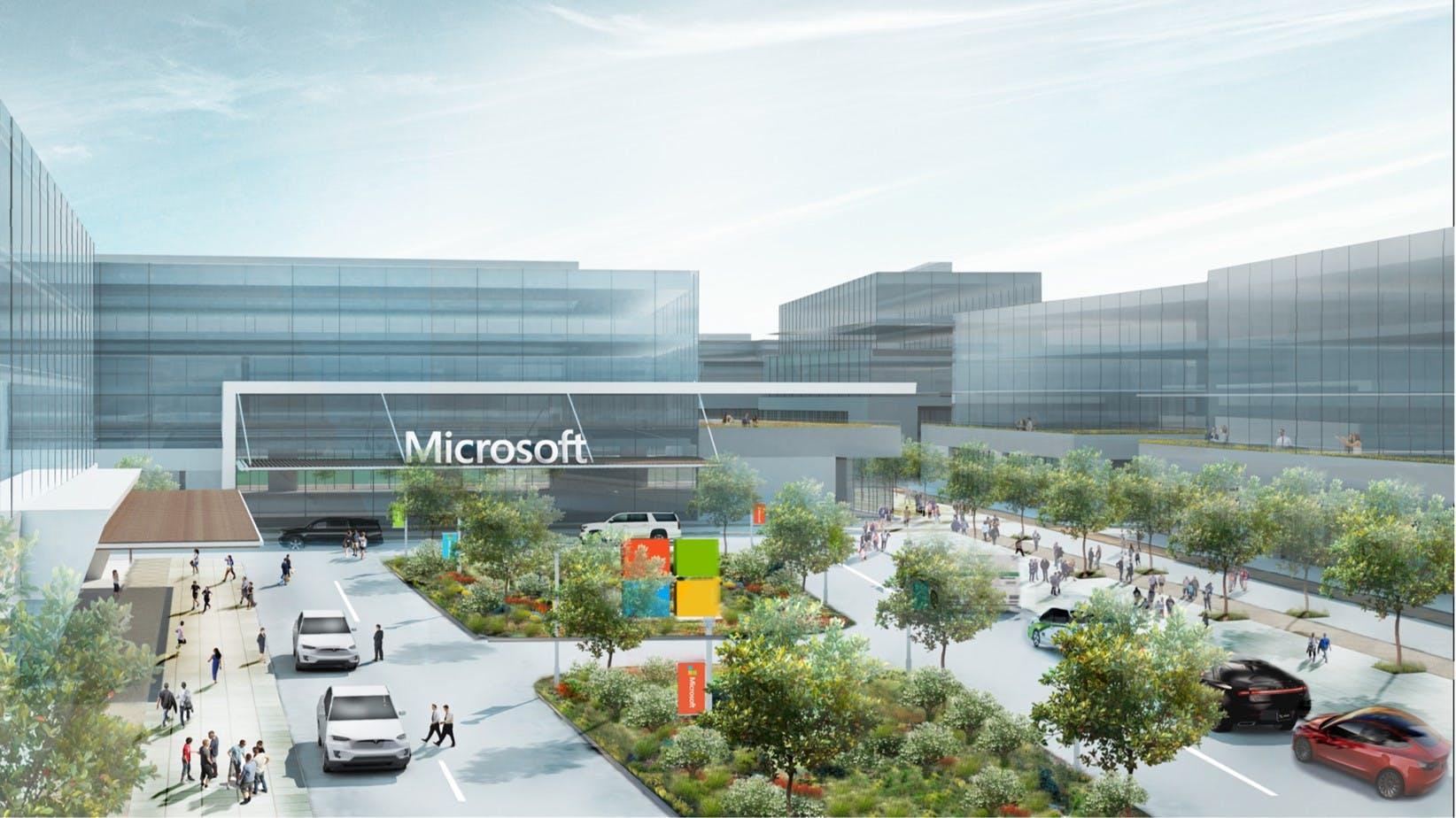 Titelbild-Microsoft-Campus-Modern-Workplace-Drop-Off-Area-c-Microsoft